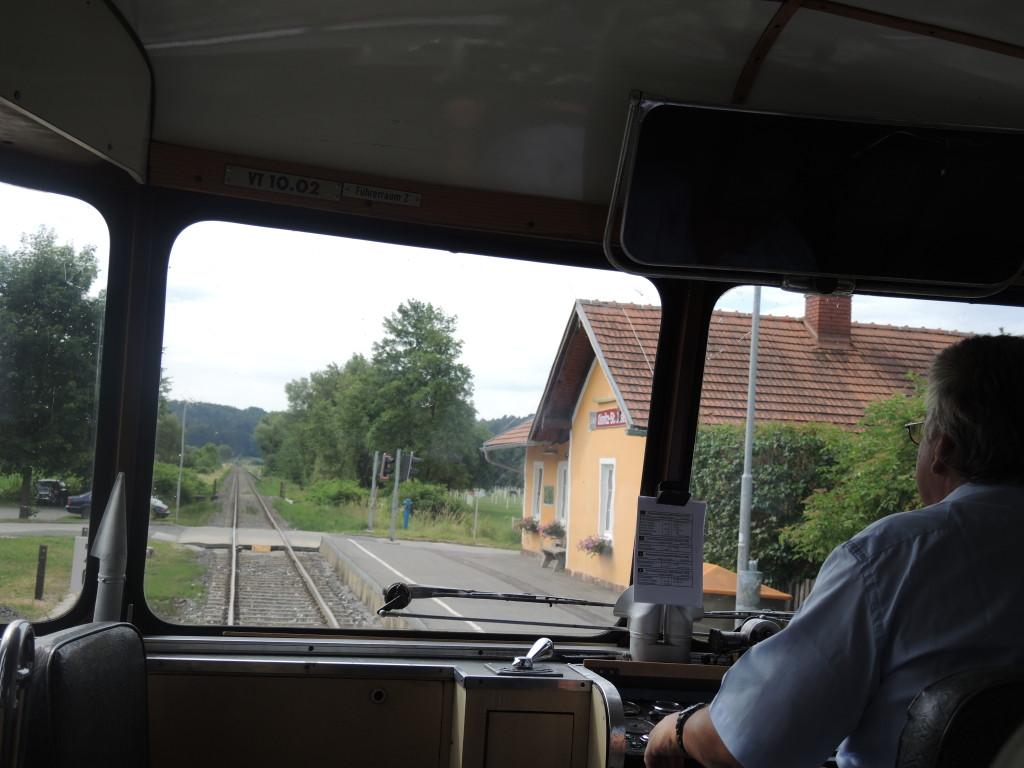 Juni 14 Sonderfahrt VT 10.02 Führerstandsicht Oisnitz