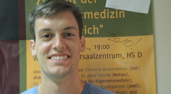 Erster Student aus Slowenien bei uns