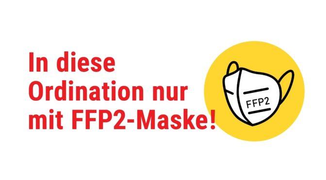 Covid-19: Bitte FFP2-Maske aufsetzen